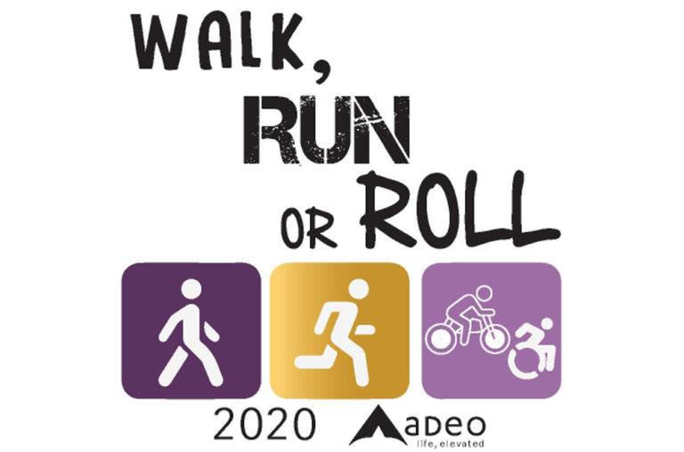 walk run or roll logo
