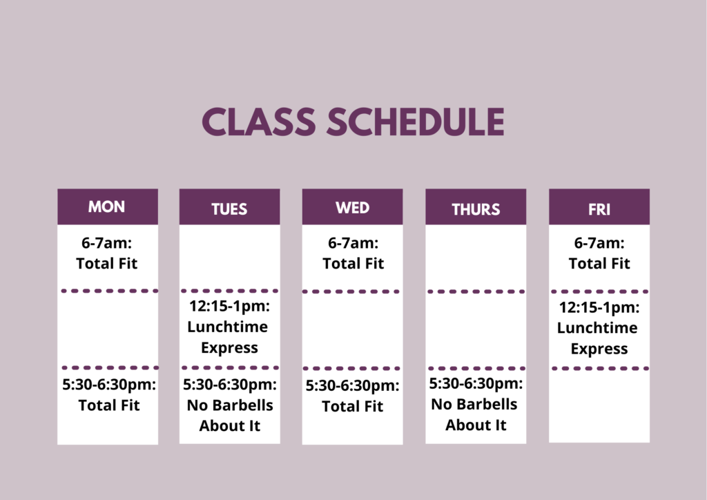Adeo Athletic Center Class Schedule