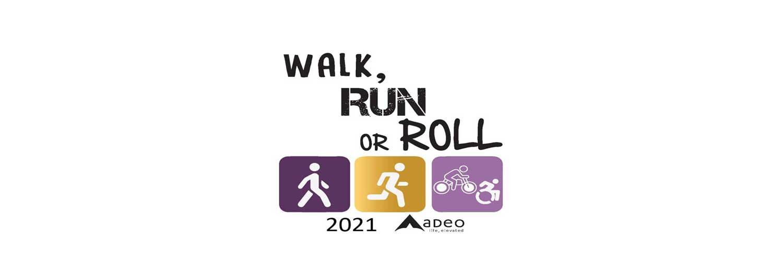 walk run roll logo